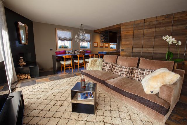 In Montagna Soggiorno - Rustic - Living Room - Milan