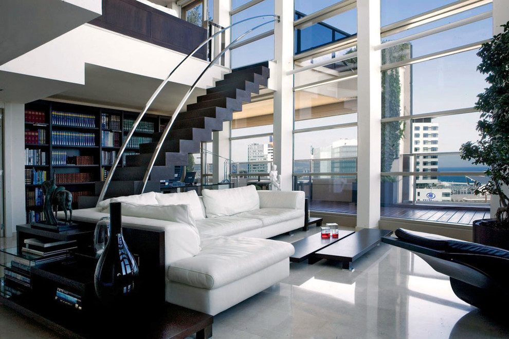 Family room - huge contemporary family room idea in Florence
