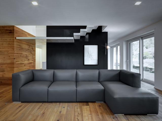 Soggiorno con pareti nere - Foto e Idee per Arredare