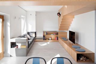 Soggiorno Stile Loft Con Camino Ad Angolo Foto E Idee Per Arredare Aprile 2021 Houzz It