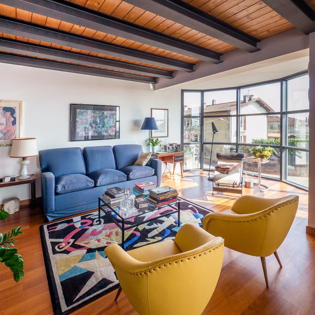 Living room contemporaneo-soggiorno