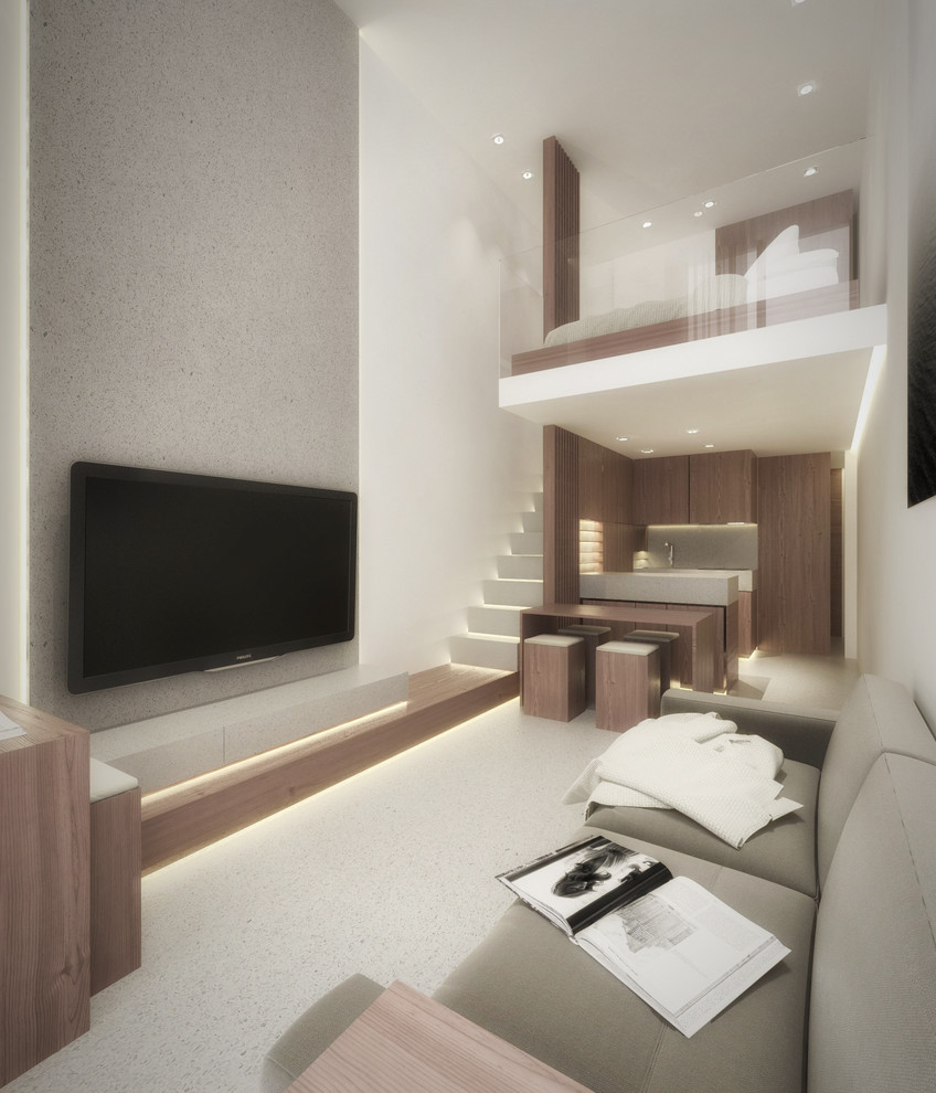 Mini Duplex Contemporary Living Room Rome By Netinteriors