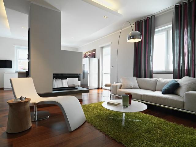Modern attic moderno soggiorno torino di studio tema
