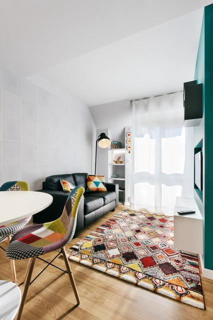 Exceptional Petrol Ad Grey In 30 Metriquadrati Contemporary Living Room