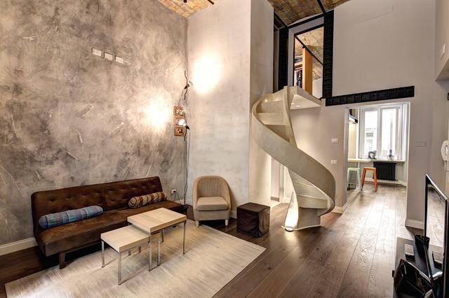 Piccolo loft piazza vittorio industrial living room for Piccolo loft a casa