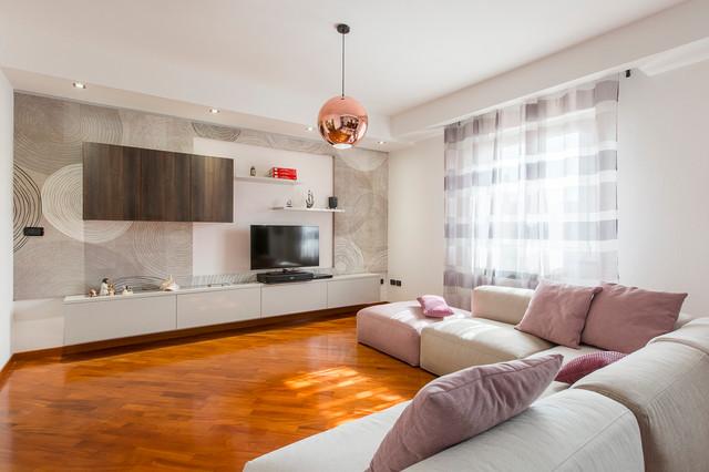 Progetto relooking soggiorno e cucina-Iglesias - Modern ...