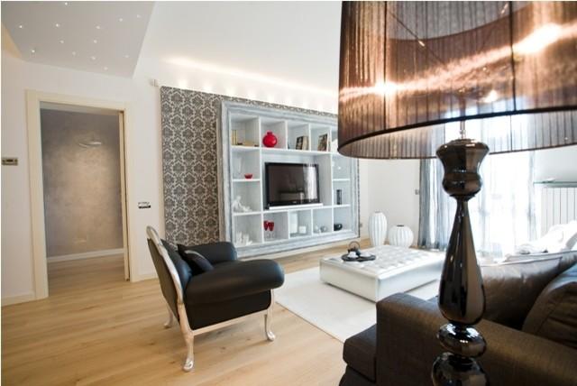 Sofisticato progetto con arredamento elegante for Arredamento casa elegante