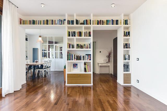 Soggiorno | Libreria a ponte in cartongesso - Modern ...