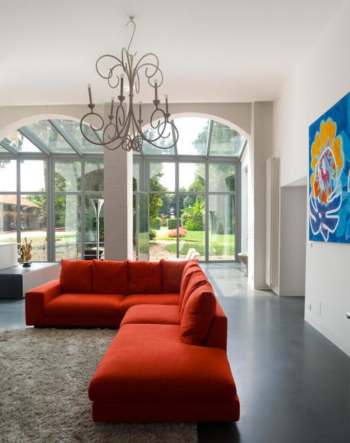 Villa Rivarolo Canavese - Modern - Wohnzimmer - Florenz - von pietro ...