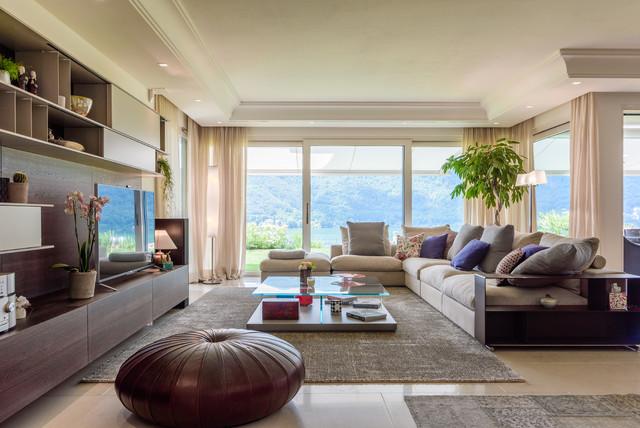 Villa with garden - Contemporary - Living Room - Milan - by Gregory ...