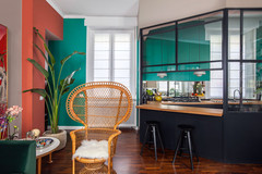 Colour Used As Architecture in Milan Flat Inspired by Corbusier