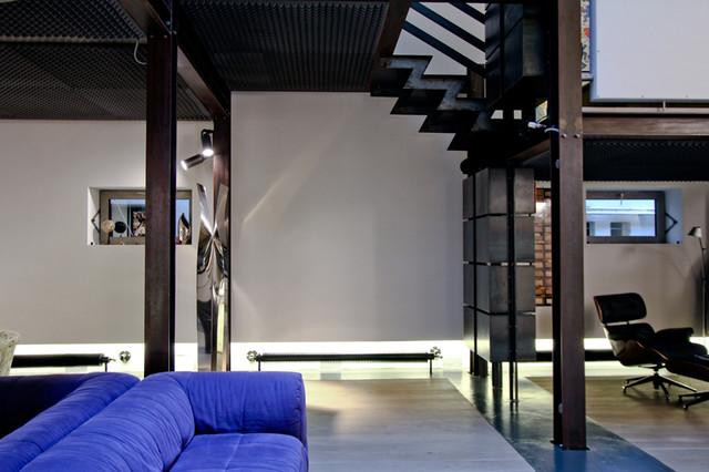 high tech loft 350 sqm industriale salotto other