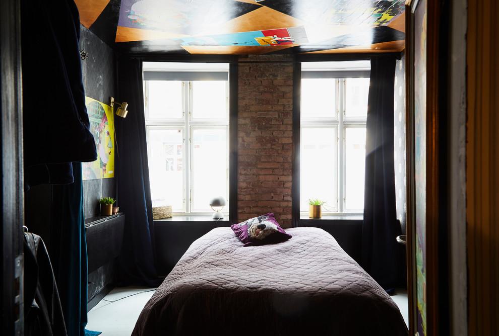 Inspiration for an eclectic bedroom remodel in Copenhagen