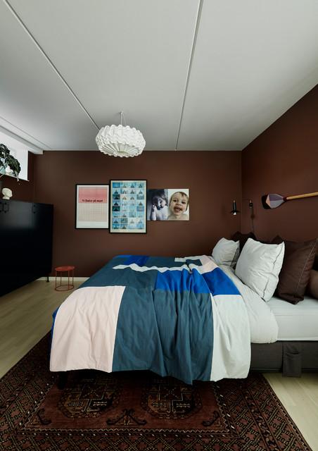 Soveværelse i brændte nuancer trendy-sovevaerelse