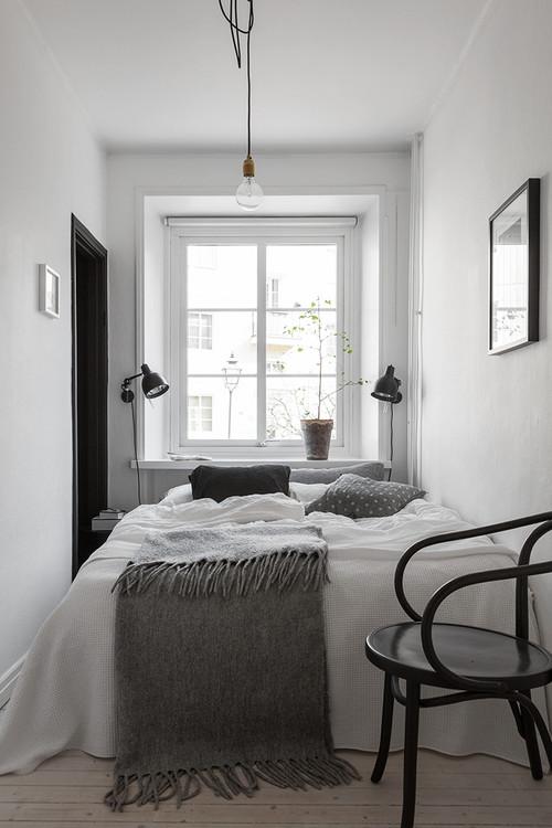 9 clevere Tipps für schmal geschnittene Schlafzimmer