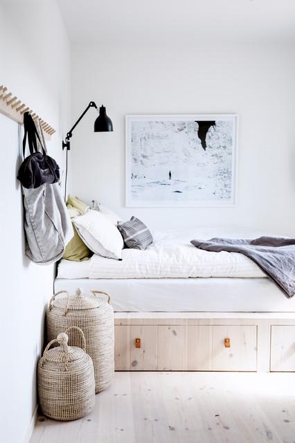 Exempel på ett skandinaviskt sovrum