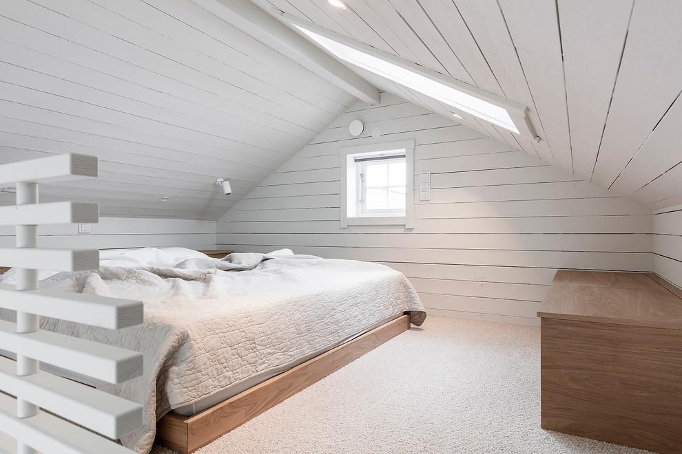 Bild på ett skandinaviskt sovrum