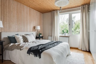 Winning Combination: Wood and White in the Bedroom (12 photos)