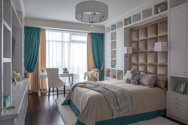 Выдающиеся фото от архитекторов и дизайнеров интерьера: спальня в стиле современная классика