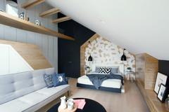 Clevere Designtricks für ein 25-qm-Dachgeschoss