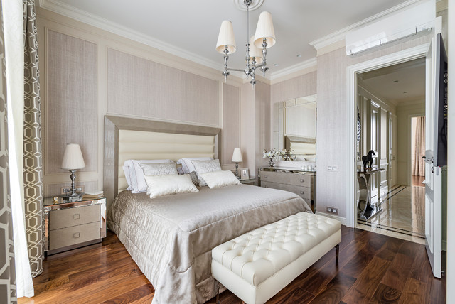 New Classic Style Transitional Bedroom Moscow By Interior Design By Kirillova