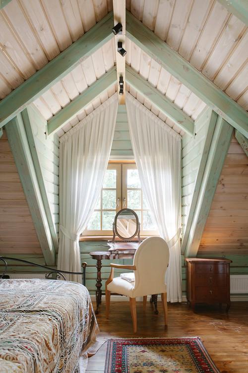 Спальня в частном доме - современный дизайна на 75 фото от профи! | 750x500