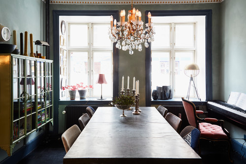 eclectic dining room interiors