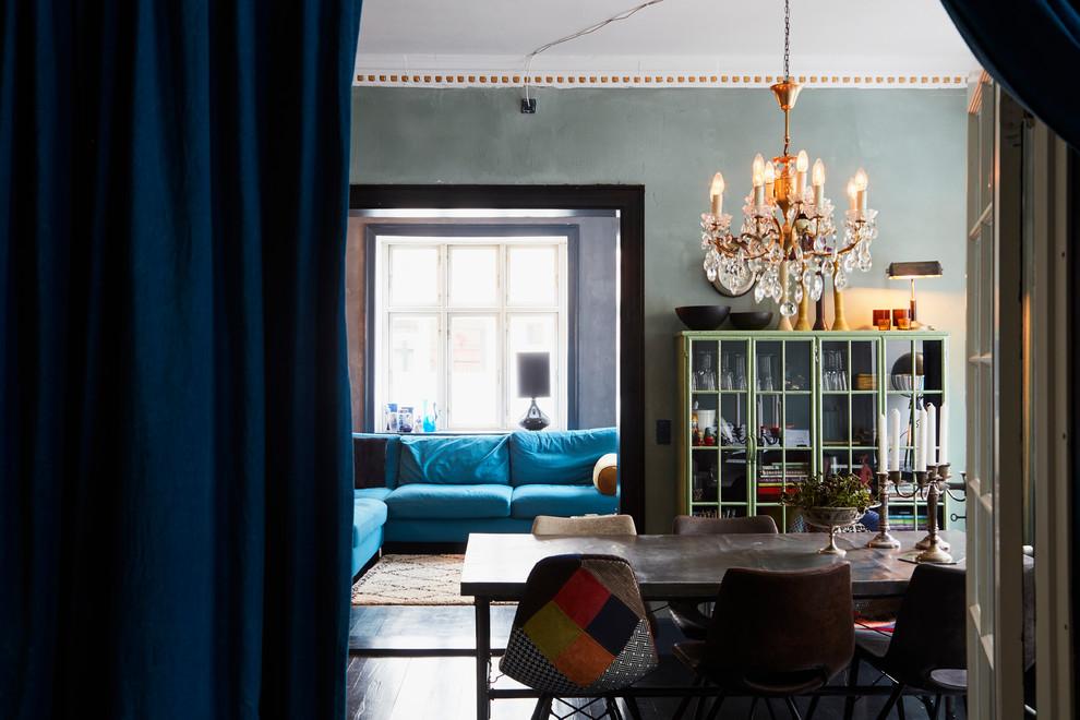 Dining room - industrial dining room idea in Copenhagen
