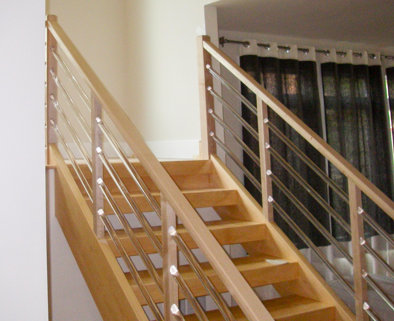 0_Modern Stairs - Clear Acrylic Horizontal Rods/Rail System, Fairfax, VA 22030
