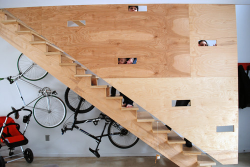 100k Stair Wall modern staircase