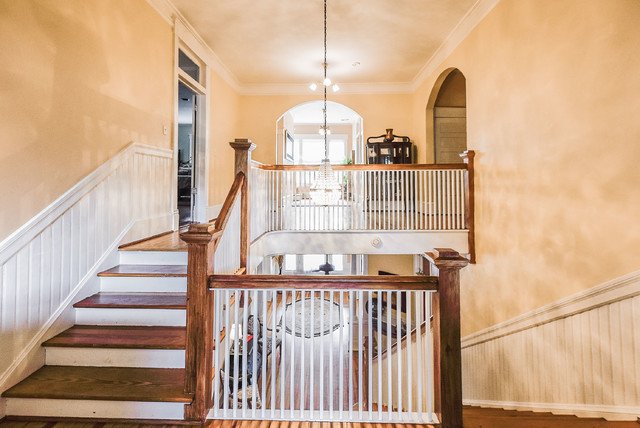 Inspiration for a timeless staircase remodel in Other