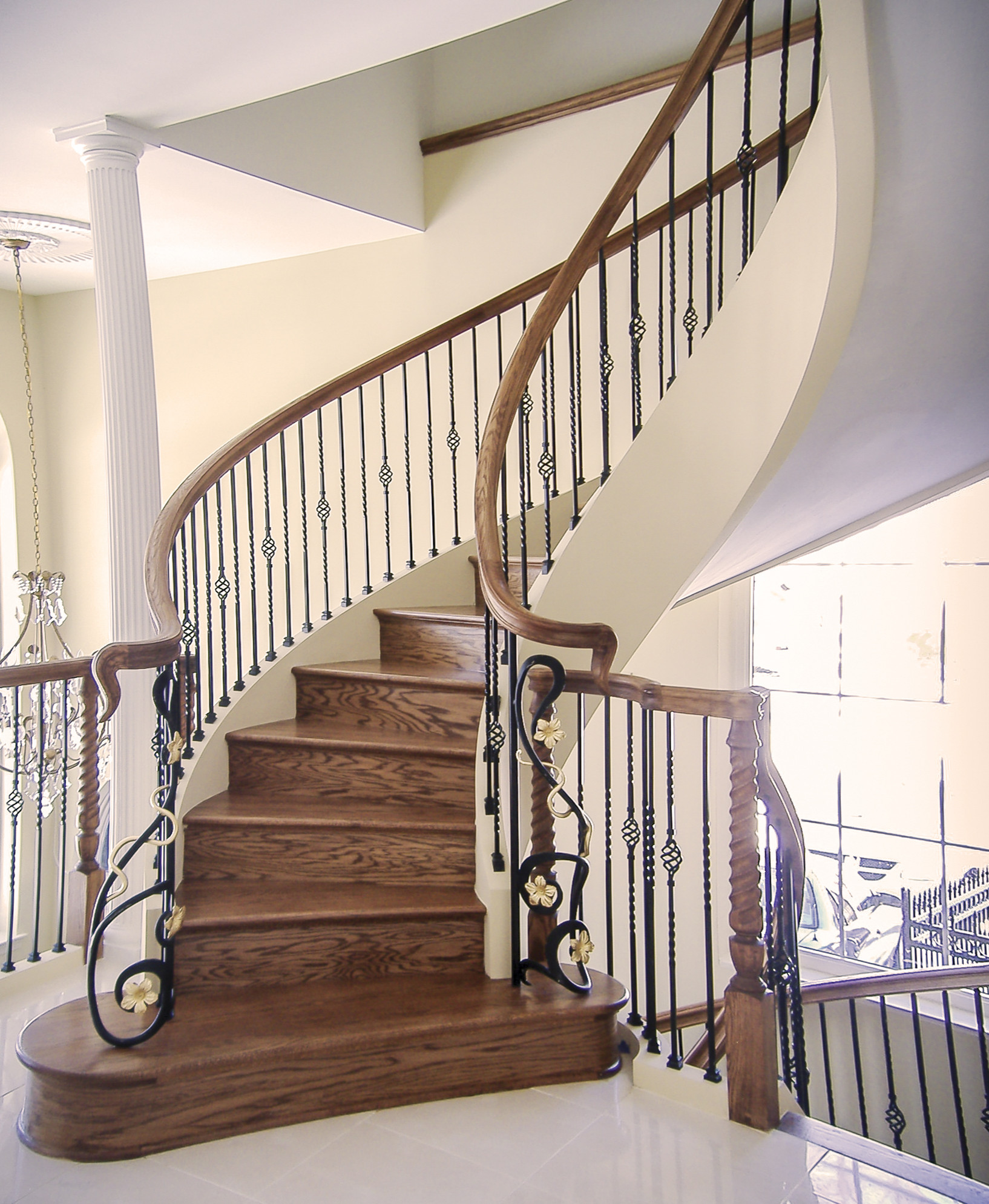 11_Custom Curved Handrail System and Stairs, Ashburn VA 20176
