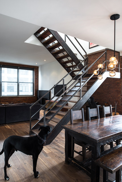 Jane Kim Design Industrial Staircase New York By