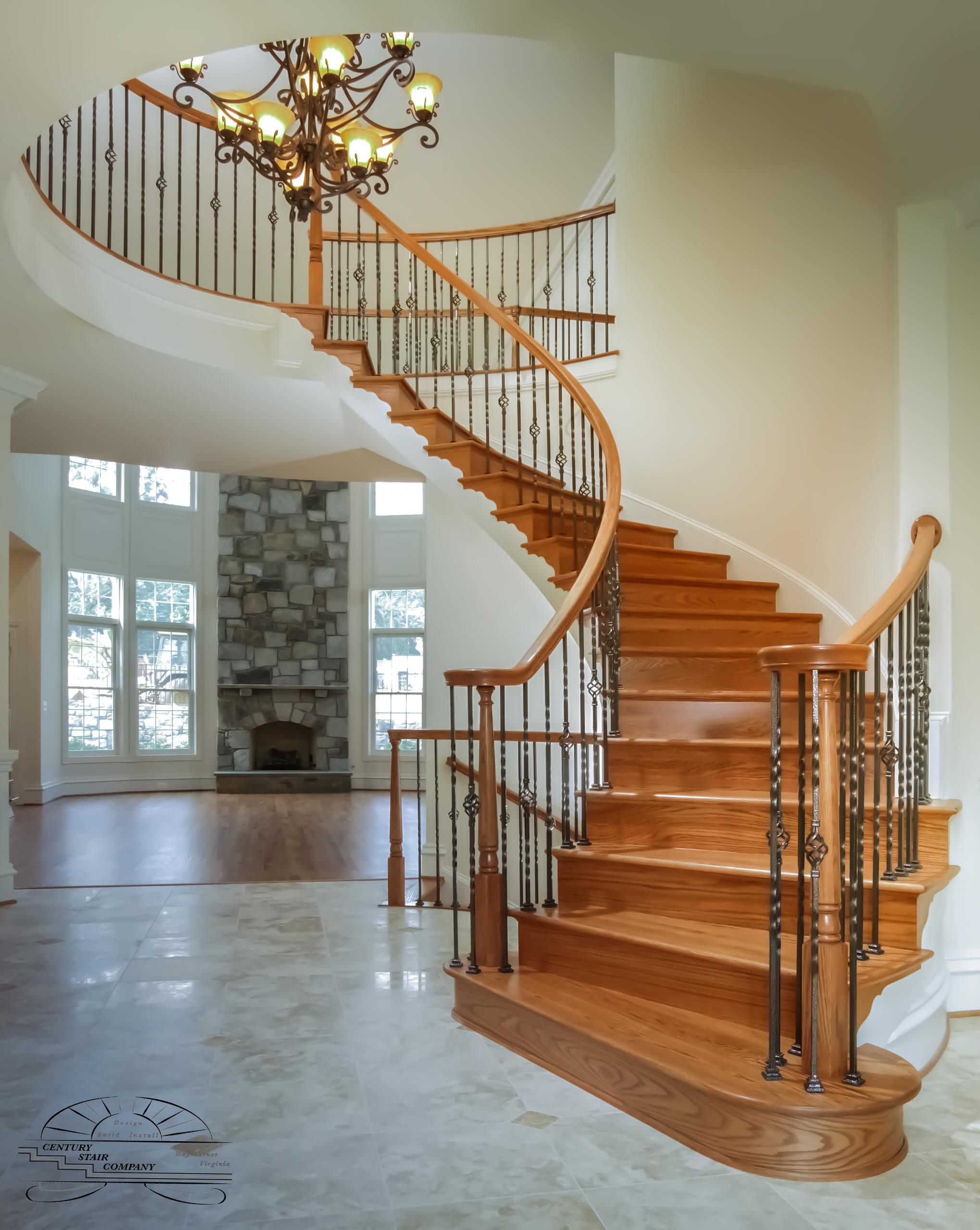 14_Entryway Transformation – Spiral Freestanding Staircase, Gainesville VA 20155