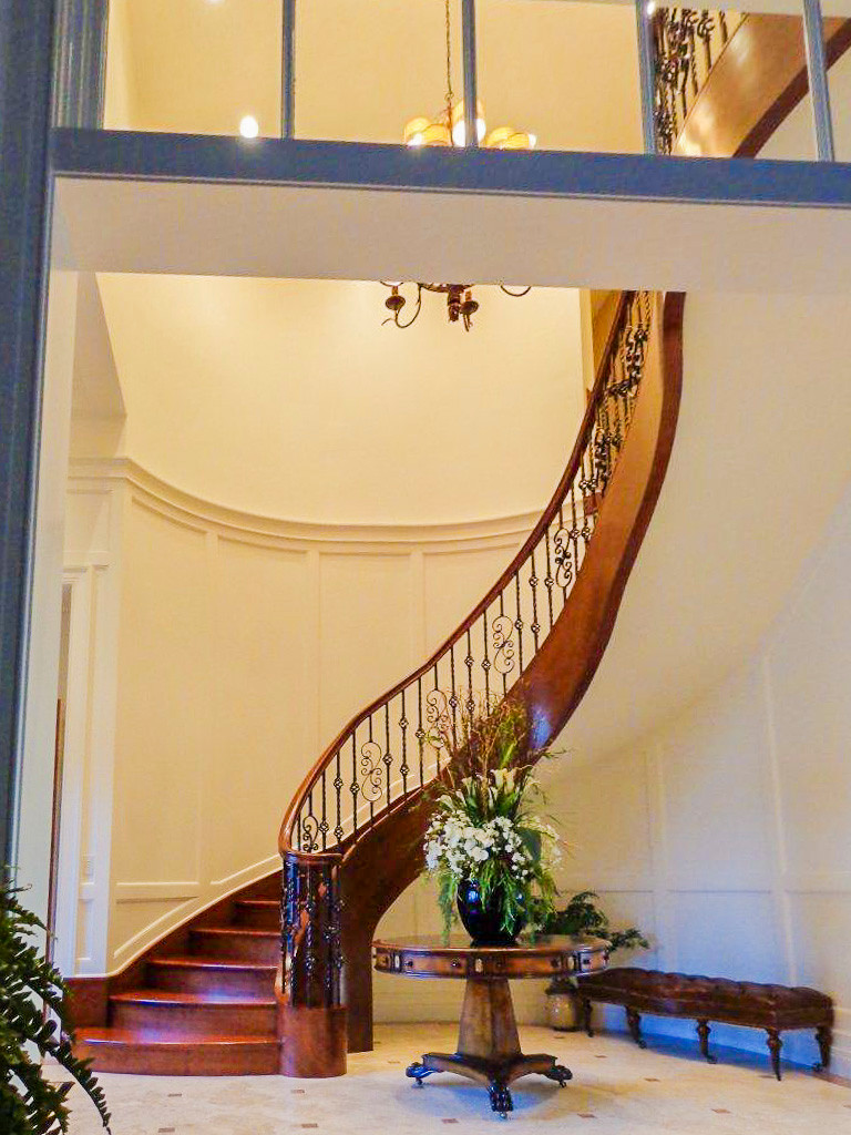 15_Sophisticaded Staircase w/American Cherry + Wrought Iron Balustrade, 20854