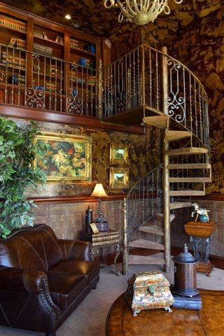 1500 Wills Ct. mediterranean-staircase