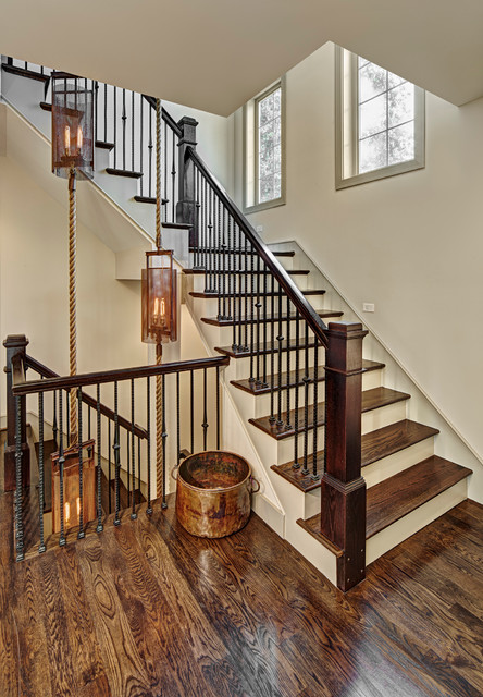 1656 Humphrey Transitional Staircase Detroit By HM HOMES