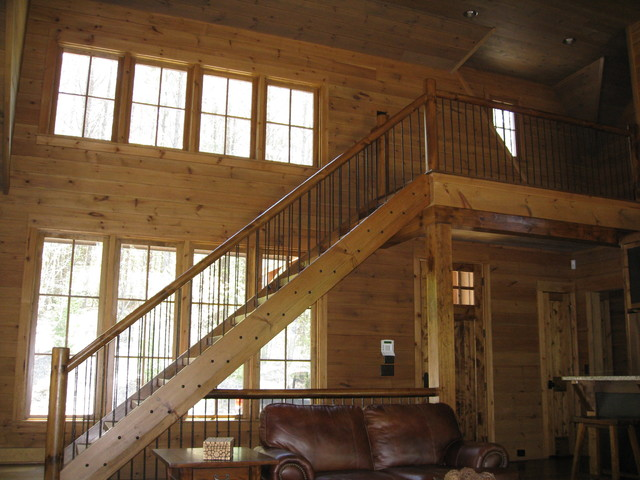 1780 Lot #62, 2147 Drydin Dr., Nebo, NC rustic-staircase