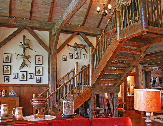 1812 Lodge Rustic Staircase Other Metro By