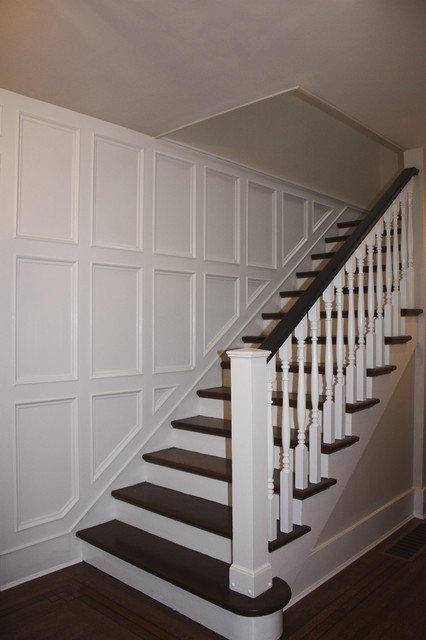 1930s Colonial Revival traditional staircase