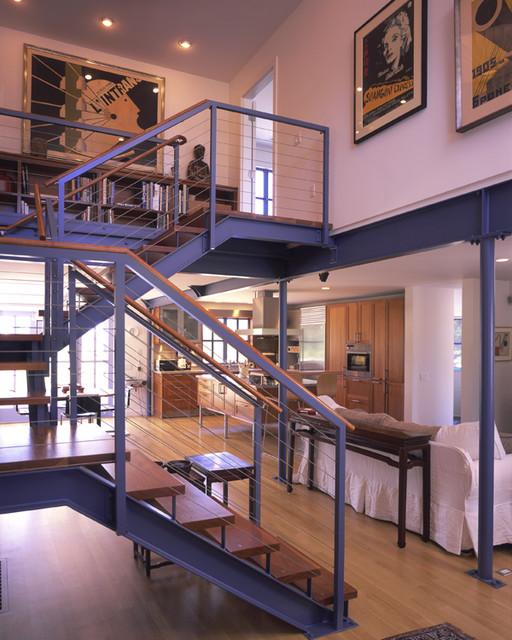 Modern Stairway farmhouse-staircase