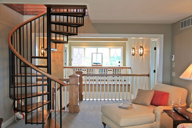 2008 Custom Built Home traditional-staircase