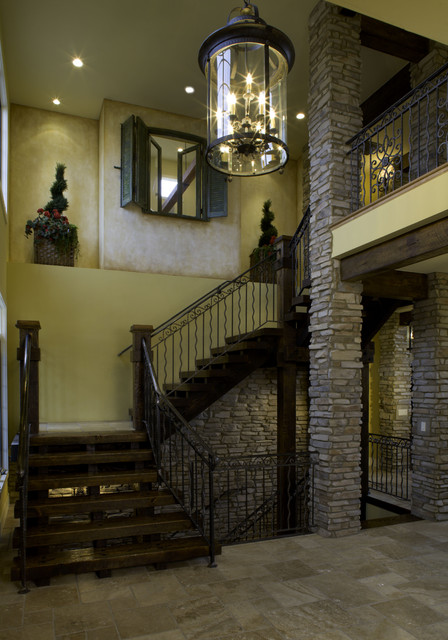 2008 Parade of Homes house mediterranean staircase