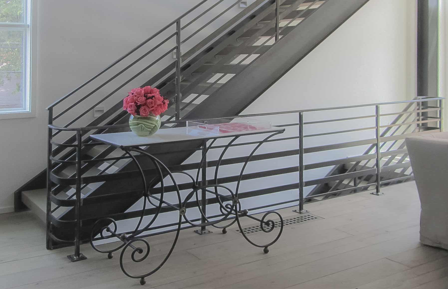 21_Industrial Stairs With Metal Balustrade & No Risers, Washington DC, 20002