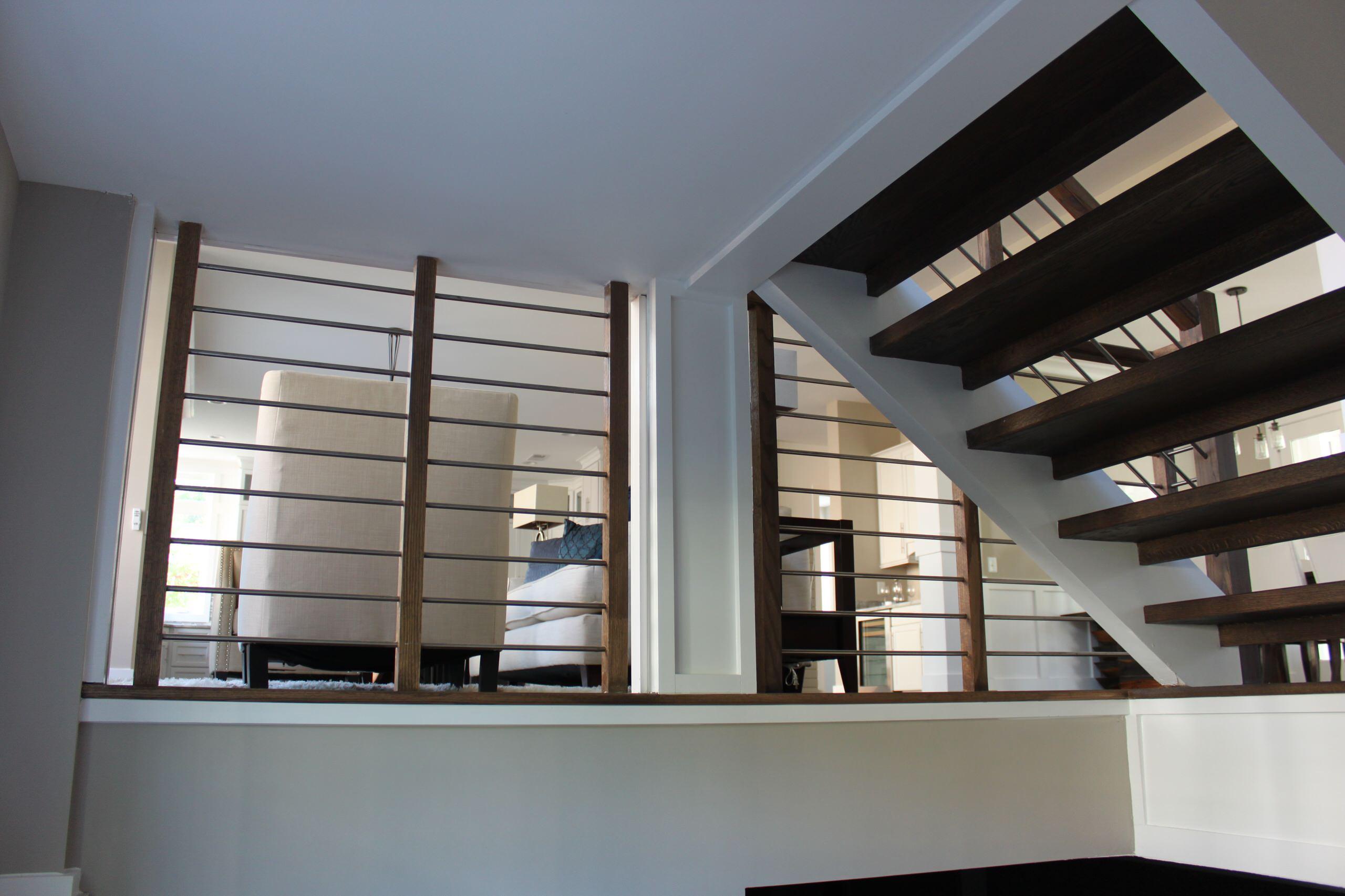 22_Stainless Steel & Dark Wooden Treads in Fabulous New Home, Vienna, VA 22180