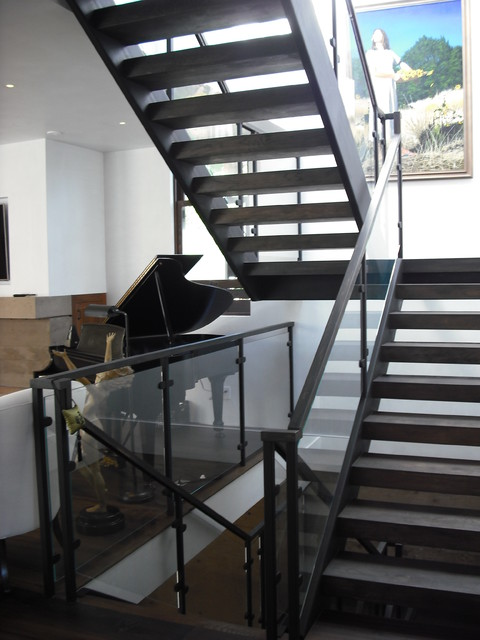 3 Story Steel Glass Wood Contemporary Staircase San