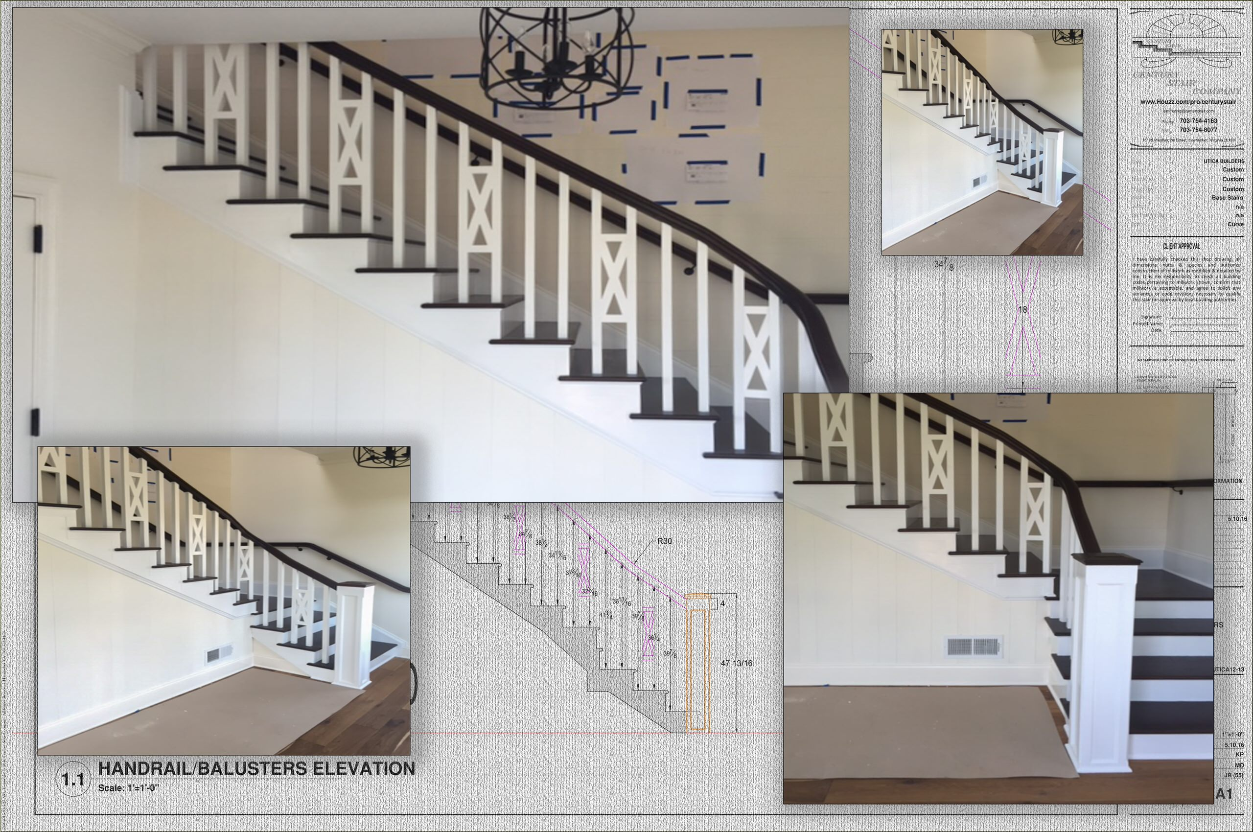 32_Sophisticated Farmhouse Style Stair, Aldie, VA 20105