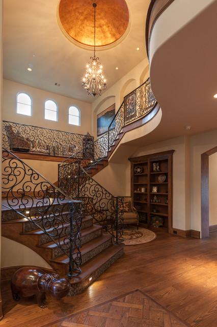 326 Bellaire Blvd Mediterranean Staircase Houston