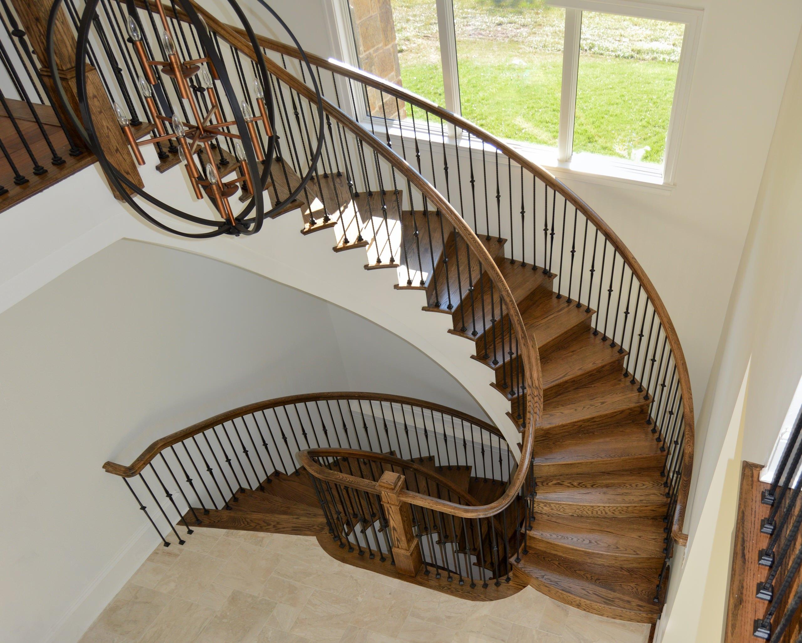 34_Elegant & Eye-Catching European Style Iron & Wooden Staircase, Leesburg VA 20
