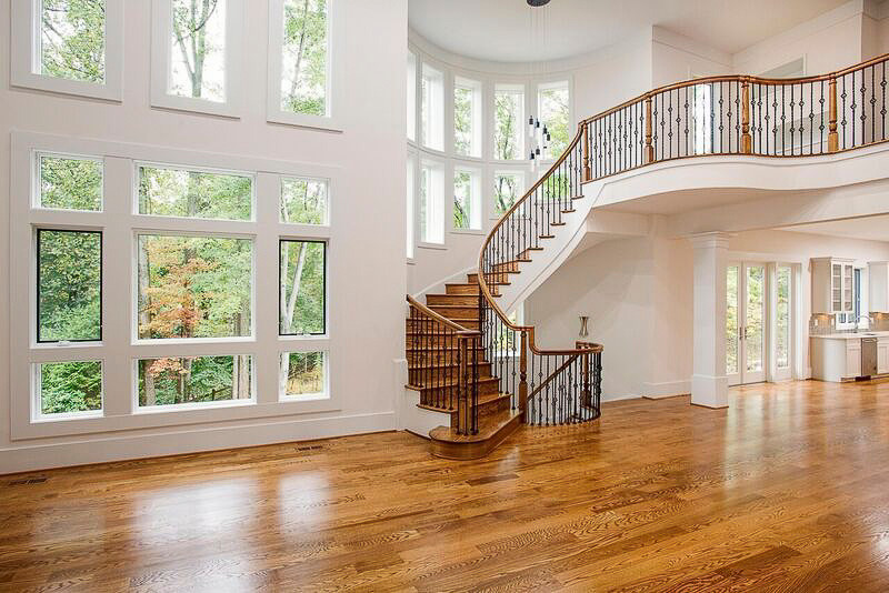 35_Old World Staircase Design with Traditional Balustrade System, Burke VA 22015